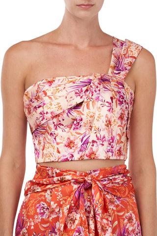 Madame top in Cantaloupe Rosa Floral