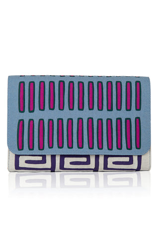 Variations Clutch in Blue Clutch