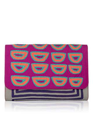 Touches of Magenta Clutch