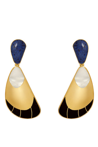 Garzon Earrings in Blue