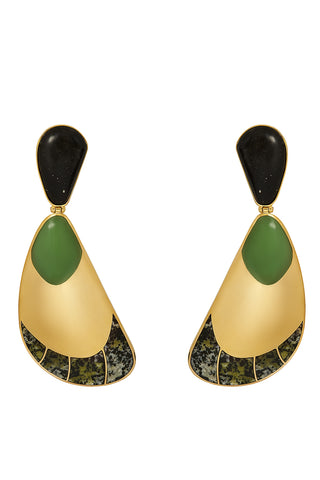 Garzon Earrings in Green