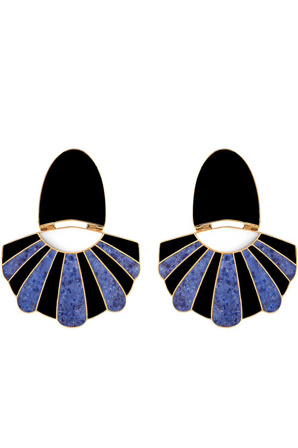 Mullu Chandelier Earrings in Blue