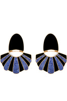 Mullu Chandelier Earrings in Blue thumbnail