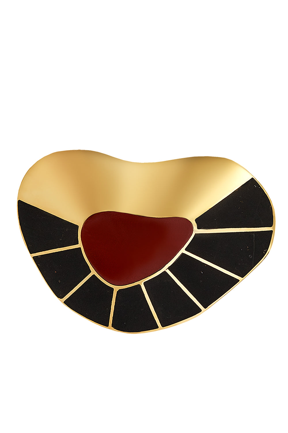 Puinare Brooch in Red