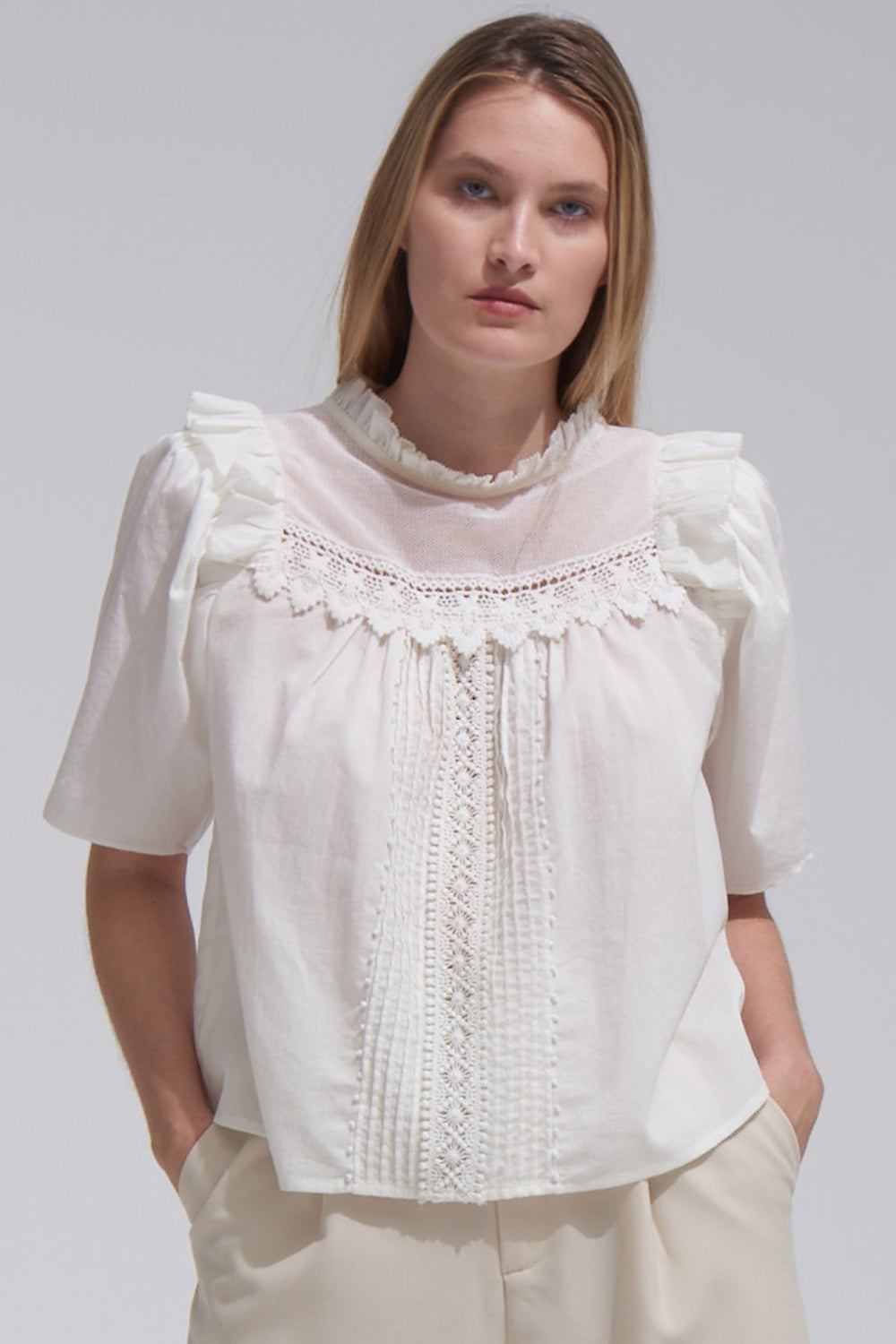 Maisie Top in Ivory