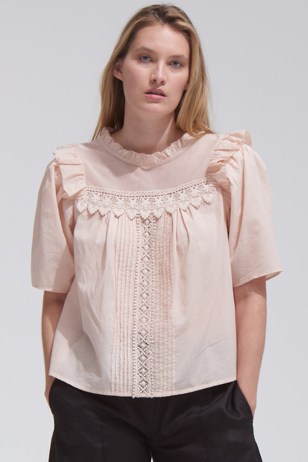 Maisie Top in Rosewater