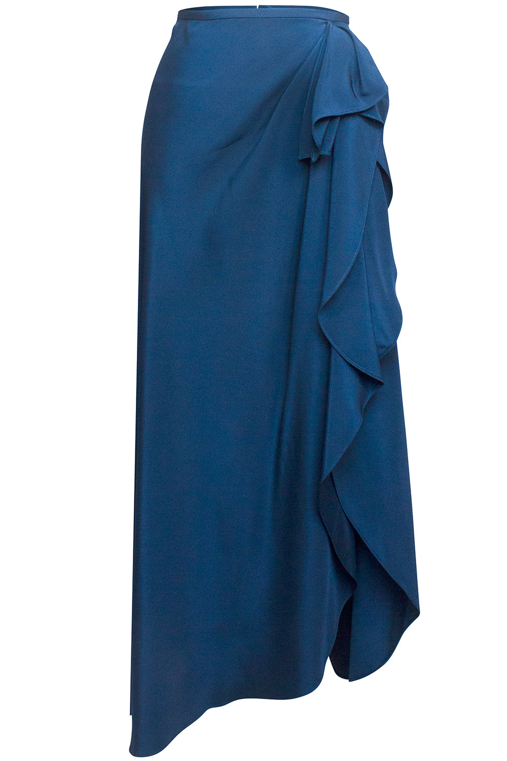 Maite Cascade Skirt in Teal Blue