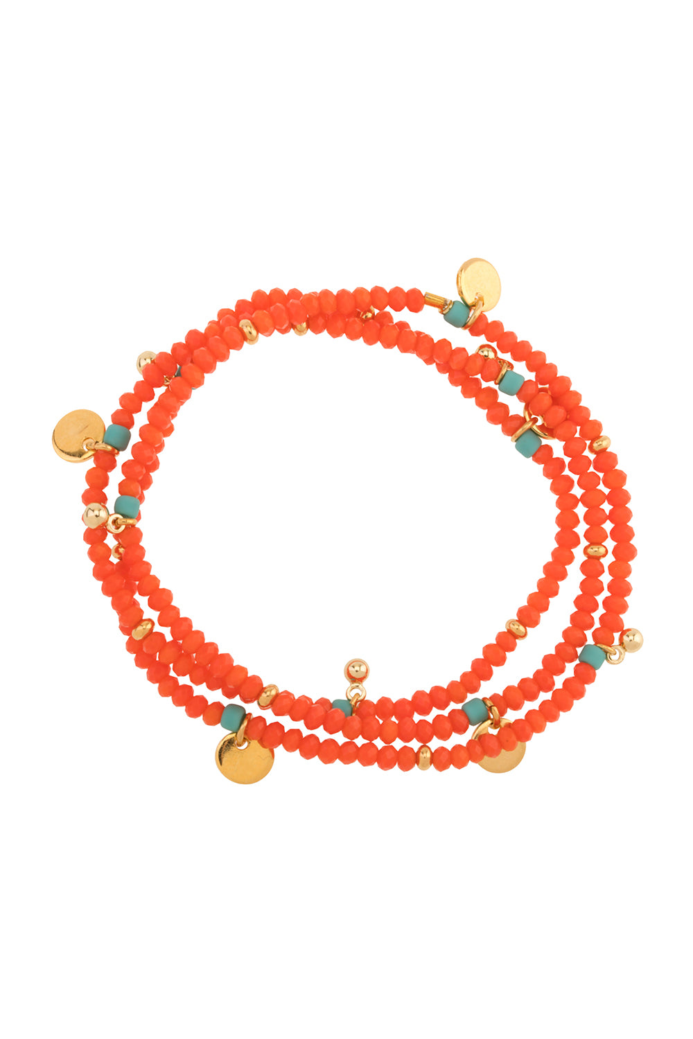 Mallorca Stretch Bracelet in Coral Orange