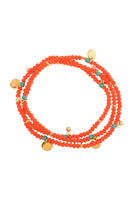 Mallorca Stretch Bracelet in Coral Orange thumbnail