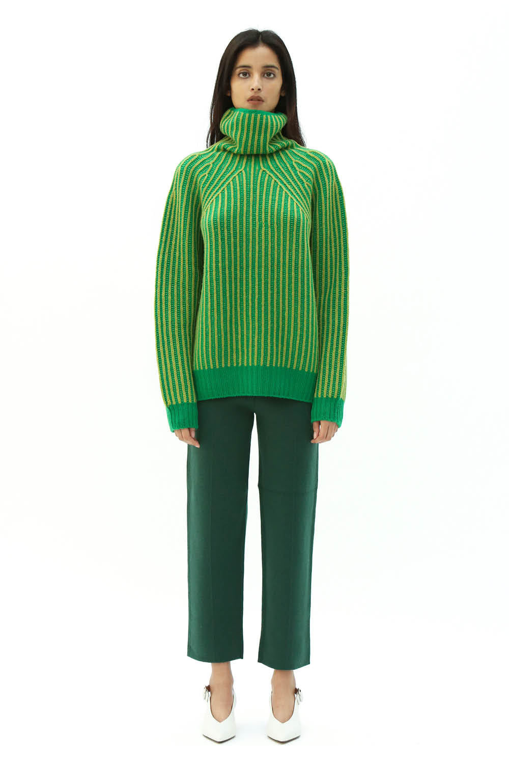 Plated Jumper in Green/Yellow