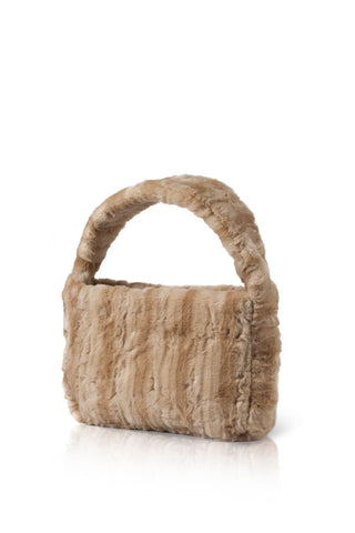 Poppy Faux Fur Handbag - Golden Sugar