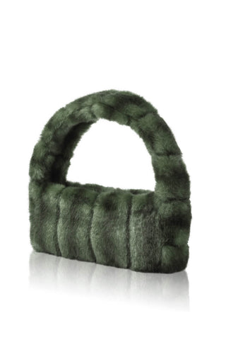 Pampas Faux Fur Handbag - Green