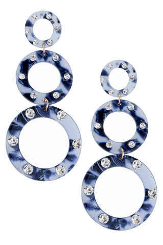 Margot Earring in Navy