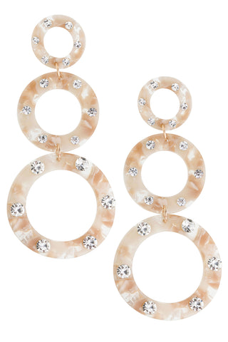Margot Earring in White