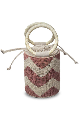 Blush-Natural Cylinder Bag