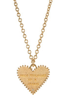 Pour Toujours Heart Coin Yellow Gold Necklace with White Diamond thumbnail
