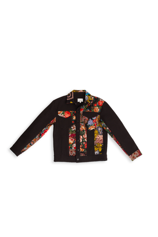 Black Combo Patchwork Jacket