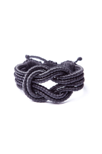 Open Knot Bracelet in Black thumbnail
