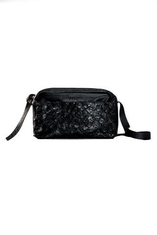 Pirarucu Crossbody Bag in Black