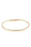 Oval Bangle in 14k Yellow Gold thumbnail