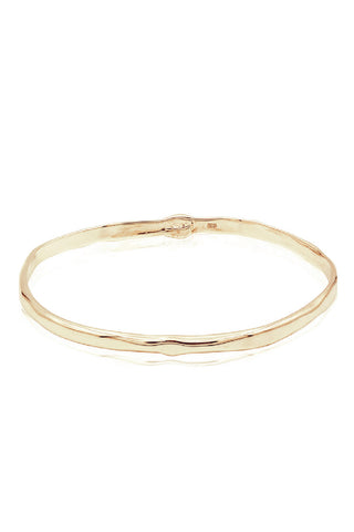 Oval Bangle in 14k Yellow Gold