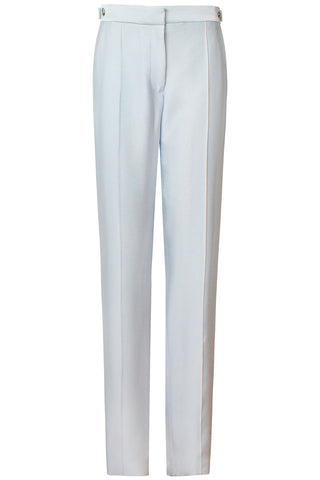 Elena Slim Leg Trousers in Silver Blue