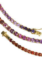 31 Sapphires Ping Pong Bracelet in Red, Pink & Purple thumbnail