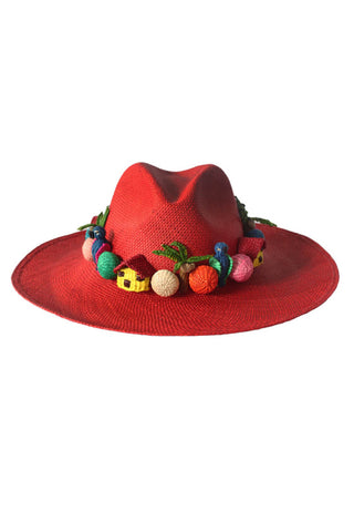 Pajarito Hat in Red