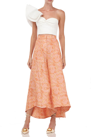 Prudence Pant in Cantaloupe Block Paisley