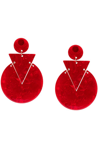 Petra Earring in Ruby