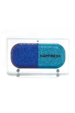 Blue Glitter Happiness Clutch