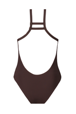 Textured Brown & Red Reversible Classic One-Piece thumbnail