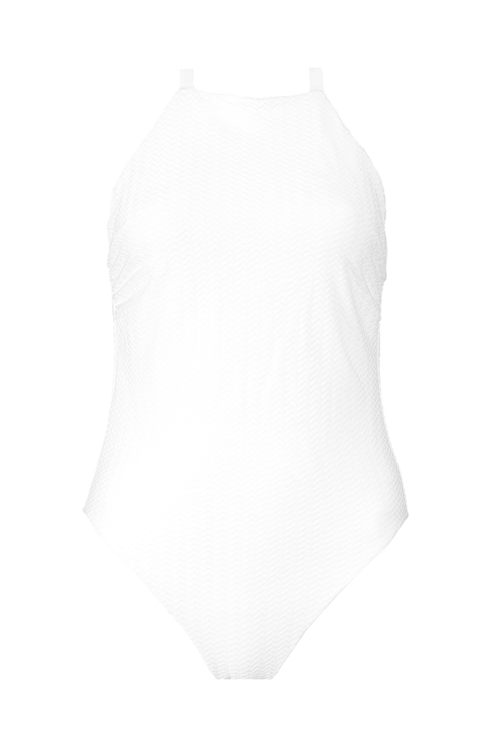 Textured White Reversible Classic One-Piece