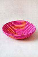 Zig Zag Plateau Basket in Pink & Orange thumbnail