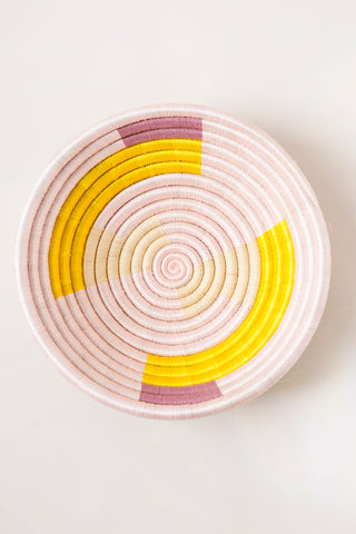 Mauve Plateau in Citron & Light Pink