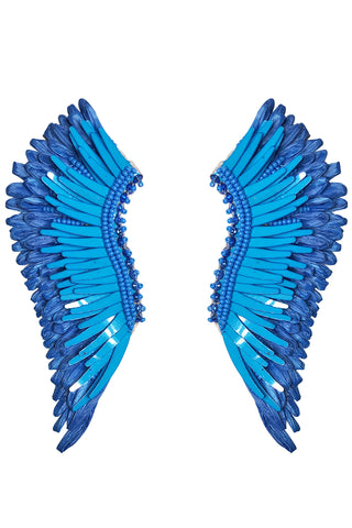 Raffia Madeline Earrings in Scuba Blue
