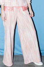Wide Leg Pants in Pink Stripe thumbnail