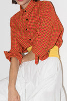 Andy Long Sleeve Shirt In Red Maasai Plaid thumbnail