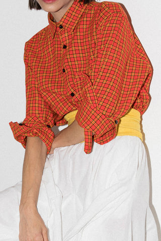 Andy Long Sleeve Shirt In Red Maasai Plaid