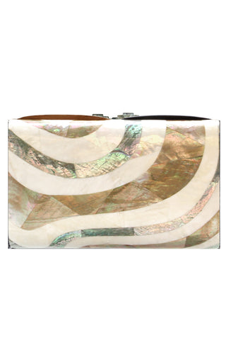 Seawave Clutch in Gold & Silver