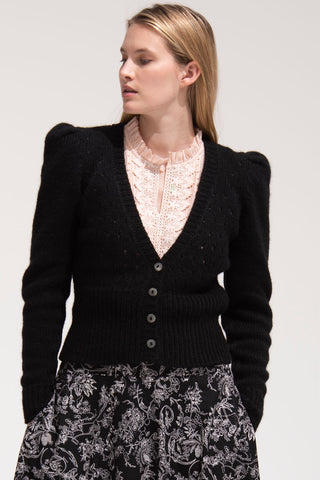 Sissy Cardigan in Black