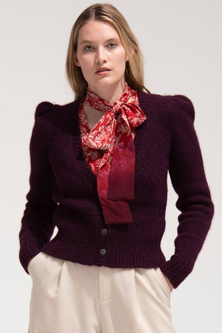 Sissy Cardigan in Raisin