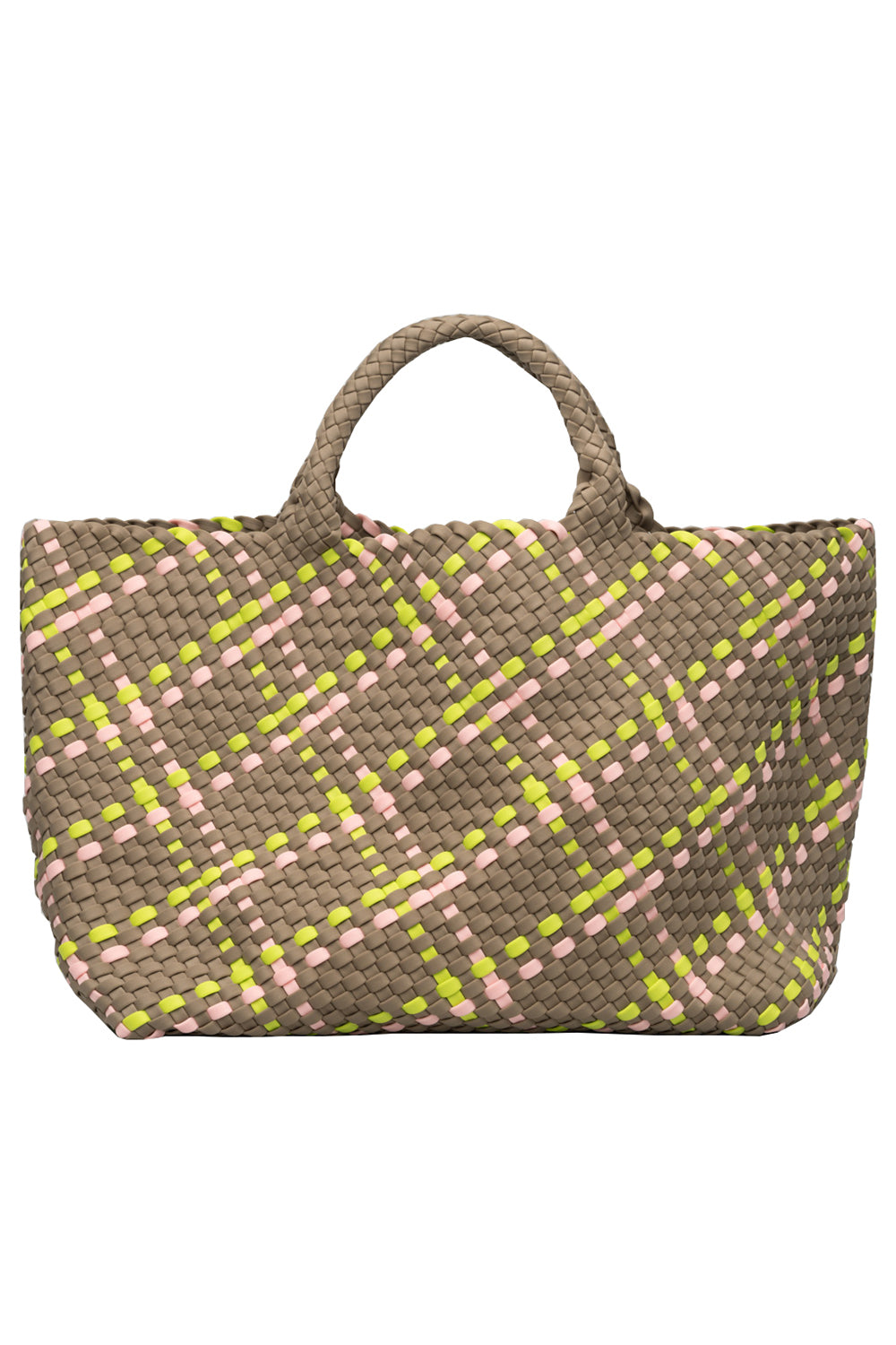 St Barths Large Tote Bag in Taupe, Blush & Lime