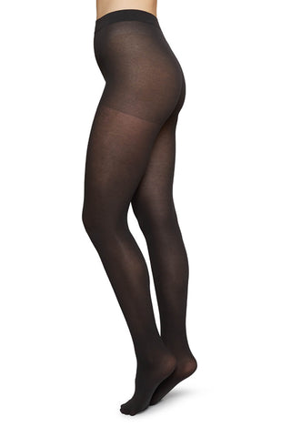 Stina Premium Bio Cotton Tights in Black