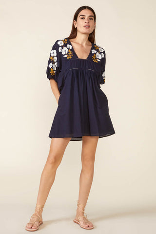 Lake Mini Dress in Navy