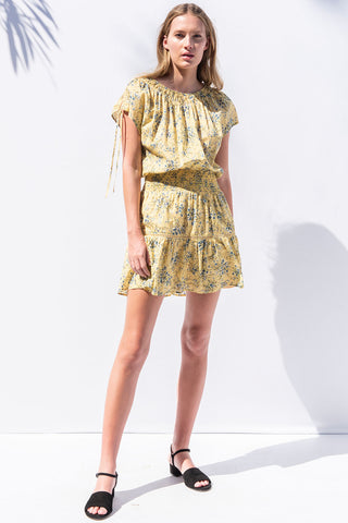 Sakura Dress in Daisy Yellow