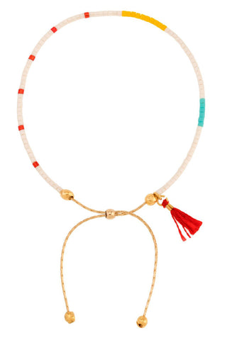 Sam Chain Bracelet in Red