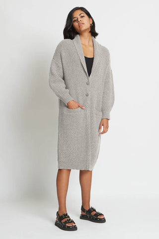 Mara Cashmere Coat in Granite