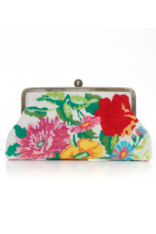 Flowers Canvas Classic Clutch Bag