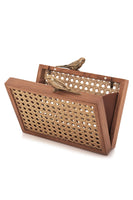 Birds Gold Straw Framed Clutch Bag thumbnail